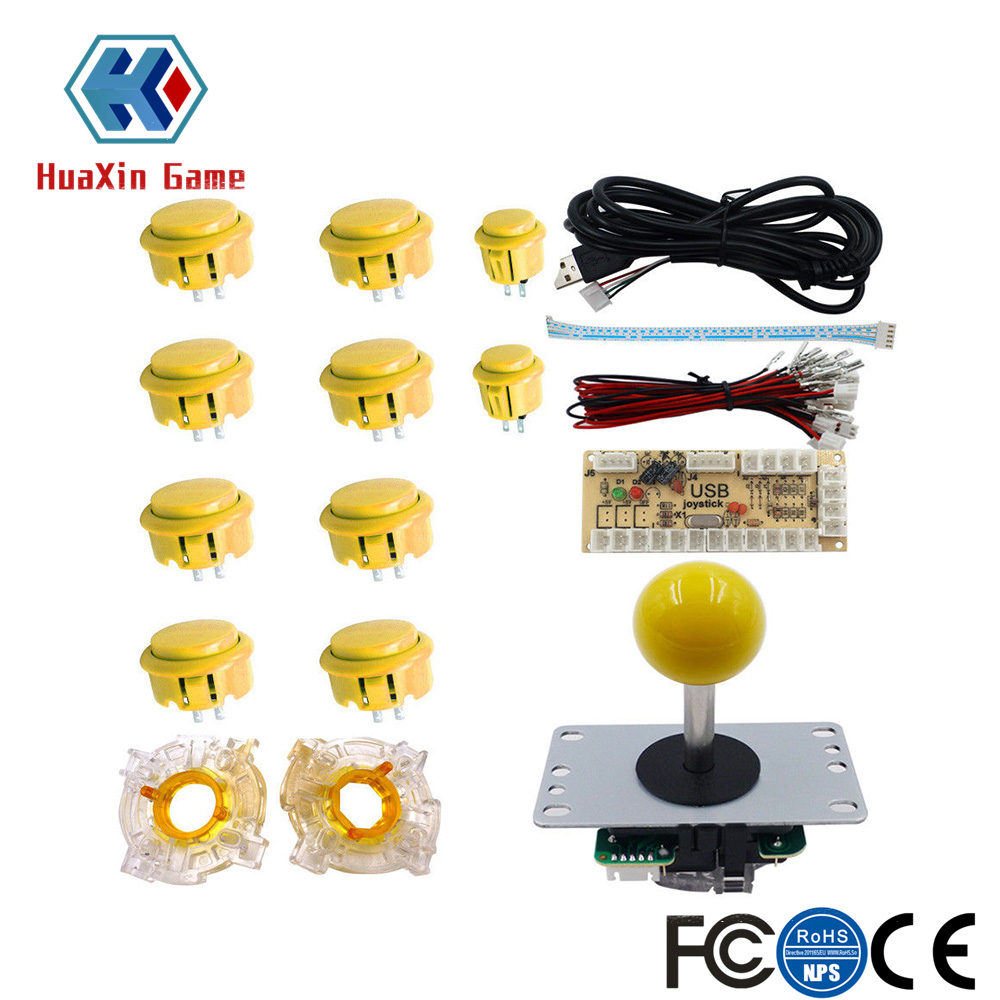 Arcade Game DIY Parts kit for PC and Raspberry Pi 1/2/3 with Retro Pie High Quality 5Pin Joystick and Buttons Mame Kits Part