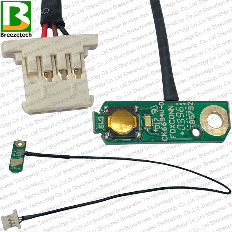 Brand new DC Power Jack Cable and Power Button PCB Board for DELL STUDIO 1555 1557 1558 Laptop Motherboard Parts laptop small power board for dell v3400 almost 100% testing