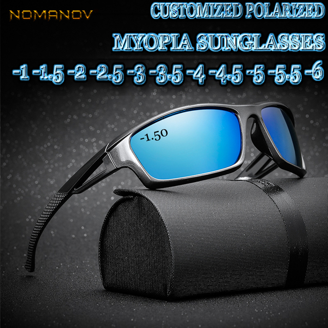 32b55f8948a Custom Made Myopia Minus Prescription Polarized Lens Sport Polarized  Sunglasses Colorful Mirror Coating Anti-wind