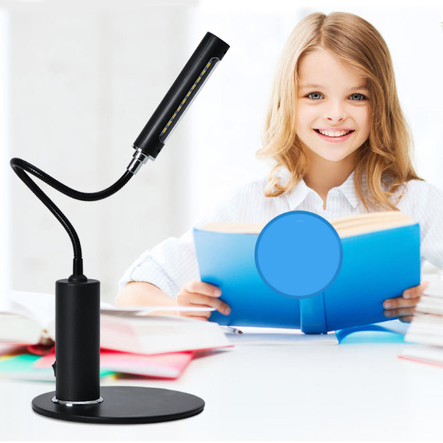 Fashion FX013 LED Desk Lamp Students Study Reading Day White Brightness Table Desk Lamps Lights Eye Protecting In Stock