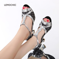 LEMOCHIC newest female models professional ballroom dance latin tap belly soft sole suitable for women comfortable dancing shoes