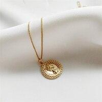 Золотого цвета, 925 пробы, серебро, елизания Аватар, круглая монета, массивные подвески, ожерелье, женские подвески, колье, модное, бохо, ювелир...