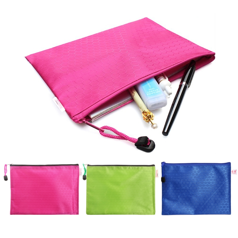 Filing Products Document Bag A5 Zipper File Pocket Storage Organizer Office School Waterproof