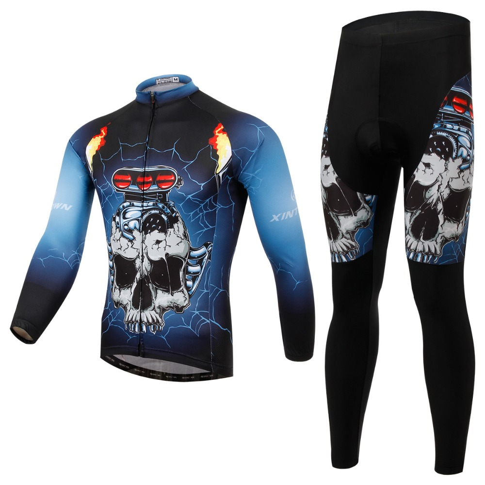 XINTOWN New Brand Design Long Sleeve Bike Sports Quick Dry Shirts Bicycle Clothing Sets Cycling Jerseys Long Set LT085 new brand phantom bike bicycle cycling jerseys short set sports t shirts gel padded tights for men