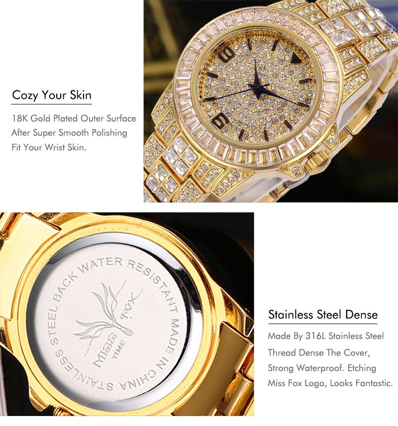 7cf86bf5a26 Missfox Rolexable papel Relógios Homens Top Marca de Luxo Relógio Masculino  Relógio À Prova D  Água Cheia de Diamantes Xfcs Unisex Relógio De Quartzo  Com ...