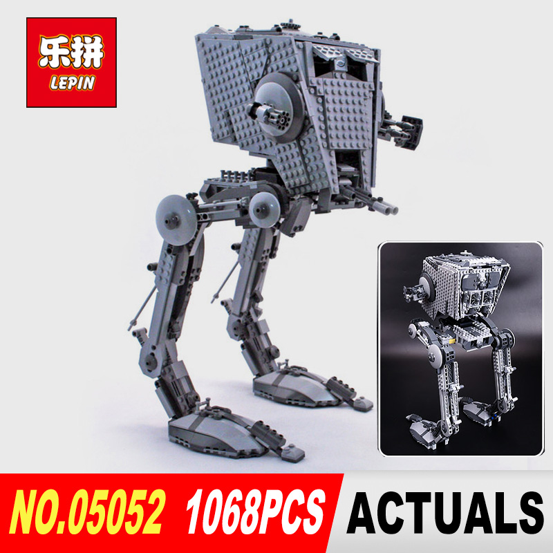 Free shipping Lepin 05052 Star 1068pcs Wars Out of print empire AT ST Building Blocks Bricks Model Toys legoe 75153 Boys Gifts