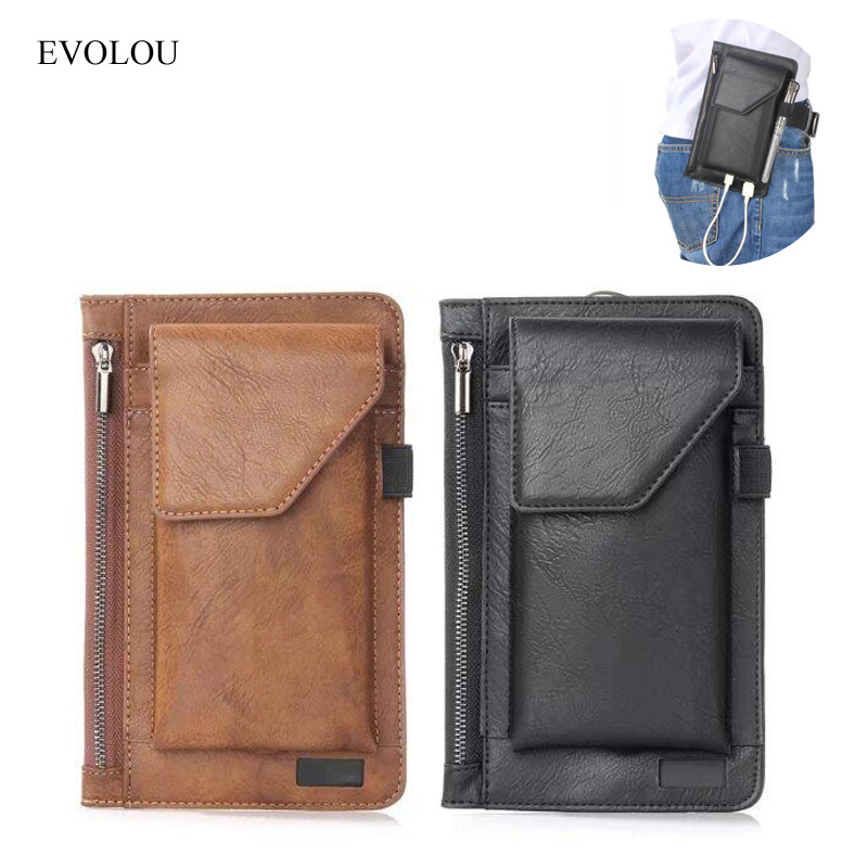 Universal Cell Phone Belt Clip Cover Waist Bag For Iphone 7 6s Plus Wallet Phone Bags