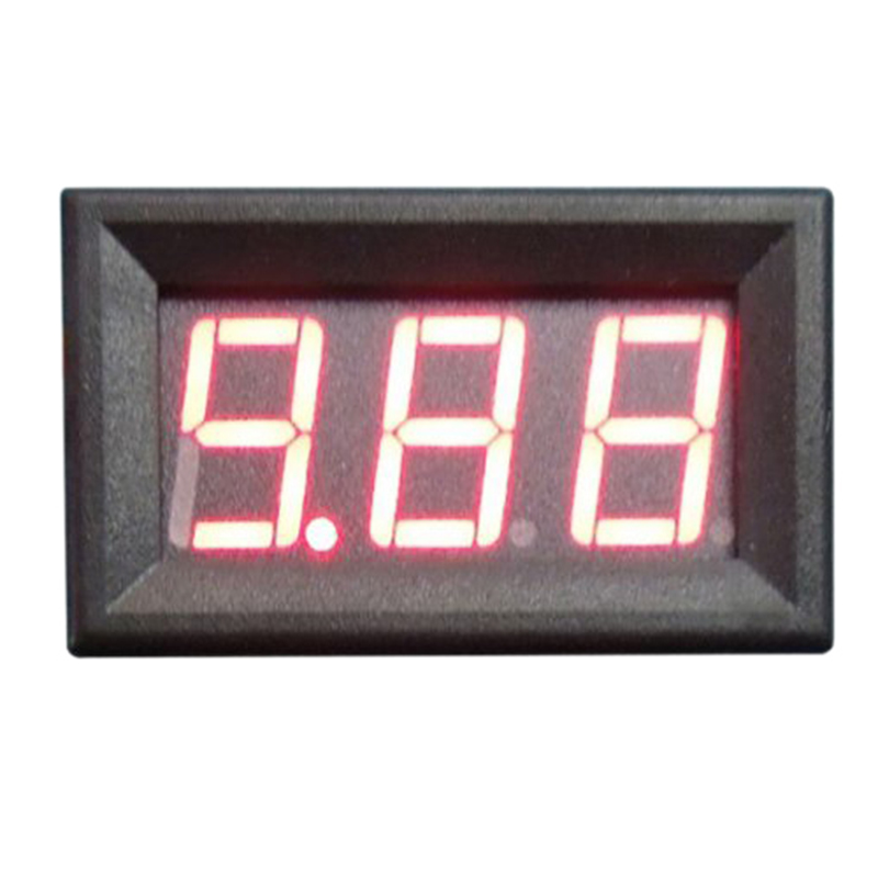10pcs Digital Dc Ammeter 10A Red LED Panel Amp Meter Digital Electricity Meter 2 2 lcd red led panel 0 10a digital meter ammeter black