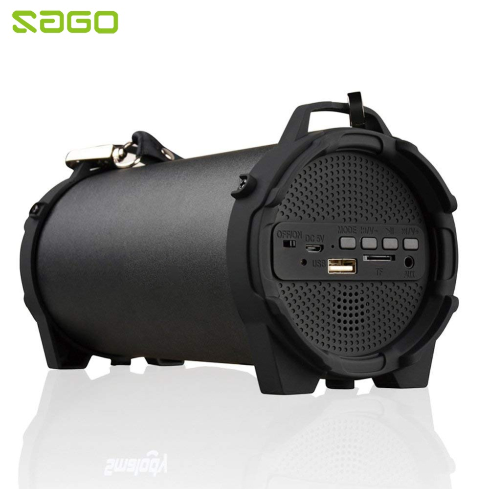 Bluetooth Speaker Portable Outdoor Wireless Speakers With Carrying Strap Built In USB TF Card Aux Best For Party Camping