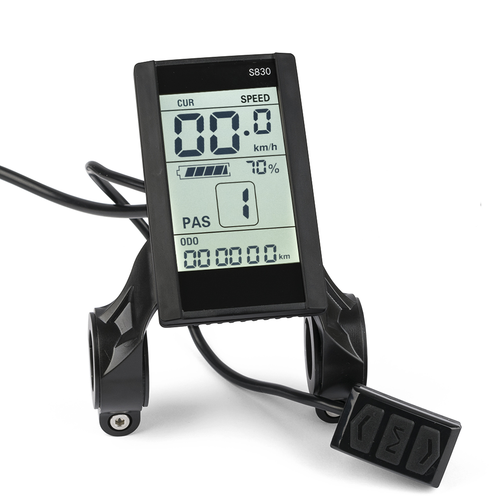 FOCAN 24V 36V 48V LCD Display Speedmeter LCD For Ebike Electric Scooter S830