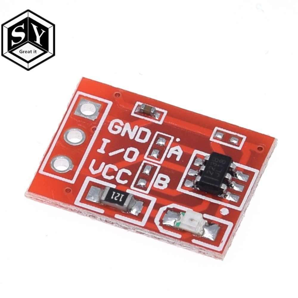 1 PIÈCES Grande NOUVEAUX TTP223 bouton Tactile Module Condensateur type Monocanal Autobloquant interrupteur Tactile capteur boutons