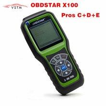 Original obdstar x100 prós c + d + e eprom modelo X 100 prós ferramenta de correção odômetro programador chave automóvel x100 pro