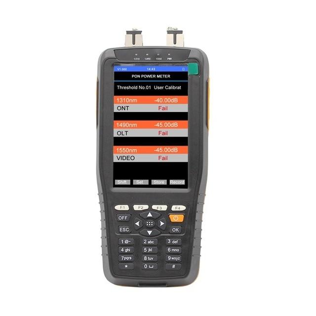 PON Optical Power Meter Với 1 mw VFL Và Optical Power Meter cho EPON GPON xPON OLT ONU 1310/1490/1550nm TM70B OV1