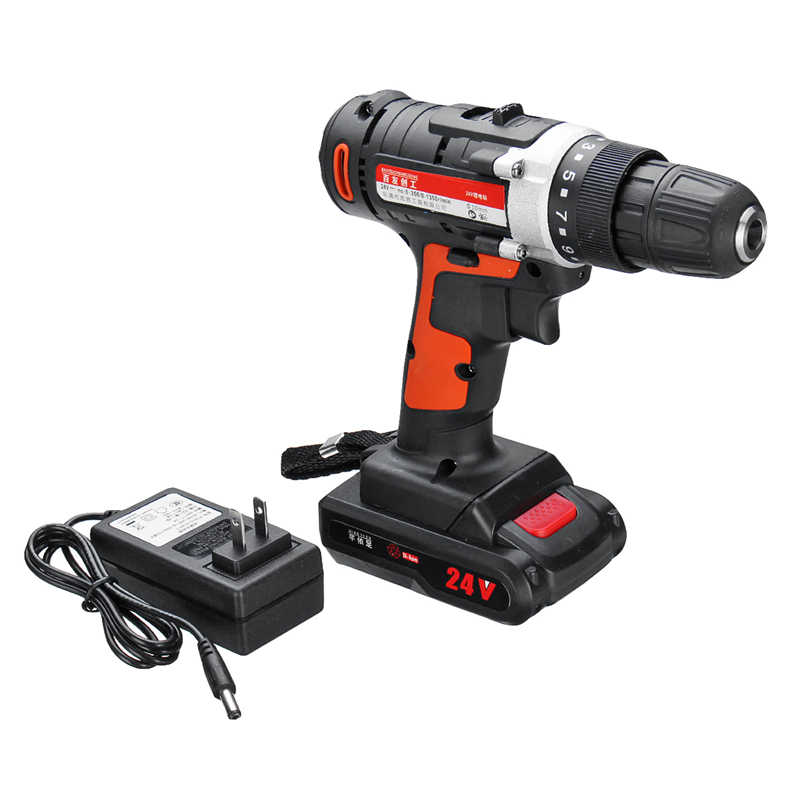 12V/24V Lithium Battery Power Drills Cordless Rechargeable 2 Speed Electric Drill Durable and Reliable High Quality