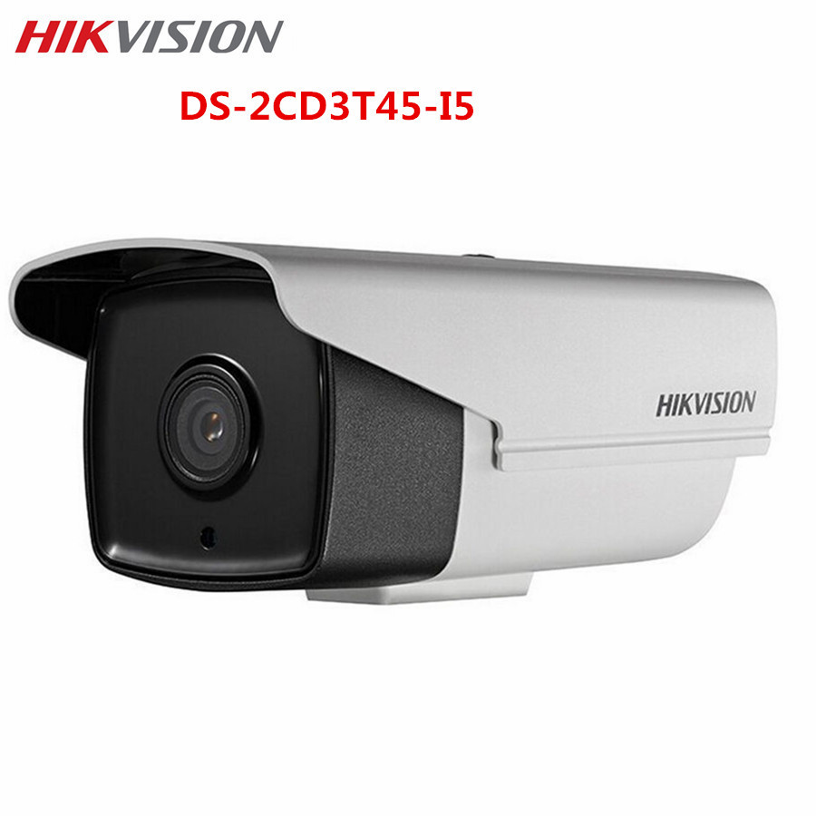 Hikvision Outdoor IP POE CCTV Camera DS-2CD3T45-I5 4MP 50M IR IP67 H.265 Replace DS-2CD2T42WD-I5 Bullet Surveillance Camera hikvision original outdoor cctv system 8pcs ds 2cd2t55fwd i8 5mp h 265 ip bullet camera ir 80m poe 4k nvr ds 7608ni i2 8p h 265