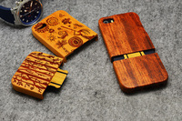 Hot Sale Retro Bamboo Wood Skull Carving Case For IPhone 5 5S Novetly Wooden Case Cover