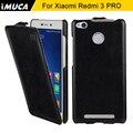 Xiaomi redmi 3 s case xiaomi redmi 3 s case cubierta de cuero del tirón de lujo para xiaomi redmi 3 s prime 3 pro 3 s teléfono imuca marca casos