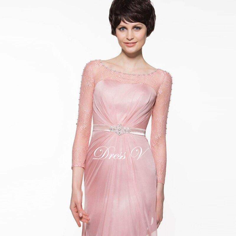 Dressv oscuro brillante rosa de encaje Madre del vestido de novia a ...