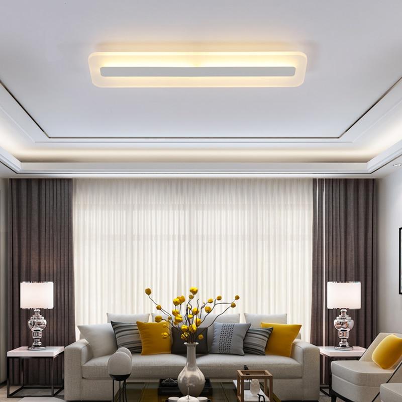 Image 2 - Modern Minimalism High brightness LED ceiling lights rectangular bedroom Livingroom aisl Ceiling lamp lighting lamparas de techo-in Ceiling Lights from Lights & Lighting