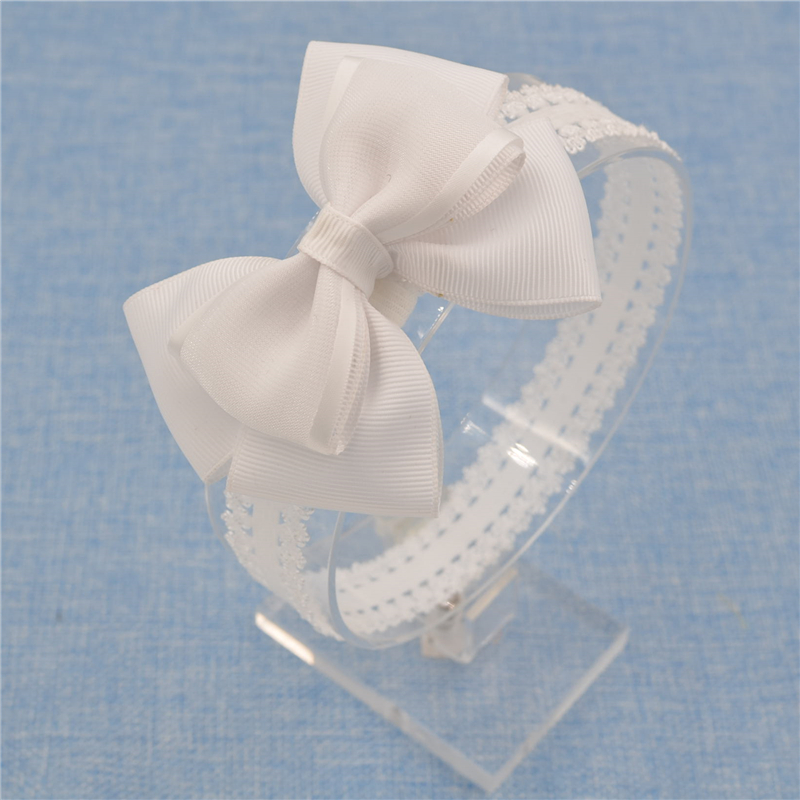 headwear Bow Headband organza Bowknot lace Headbands s
