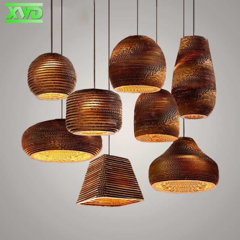 Rural Style Indoor Foyer Paper Pendant Lamp Coffee House/Dining Hall/Club/Foyer/Shop/Bar E27 Lamp Holder 110-240V Free Shipping vintage iron cage glass indoor pendant lights e27 lamp holder 110 240v bar coffee house dining room foyer club lighting