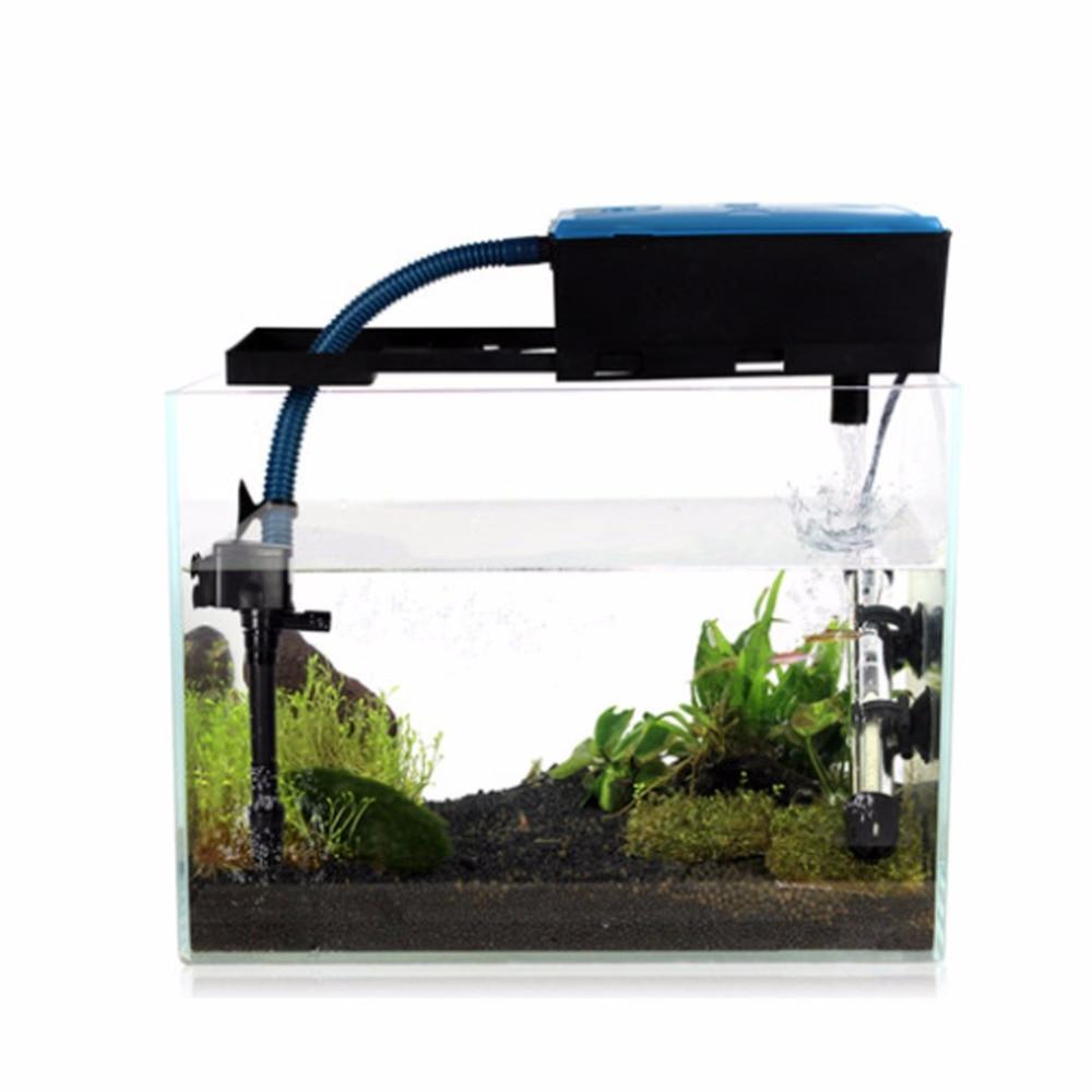 Fish aquarium pumps - 3 In 1 Multifunction Fish Tank Electric Filter Filtration Oxygenation Air Water Pump Fish Aquarium Fg