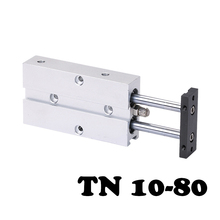 TN 10-80 Two-axis double bar cylinder cylinder TN Type 10mm Bore 80mm Stroke Double Shaft Rod Pneumatic цена