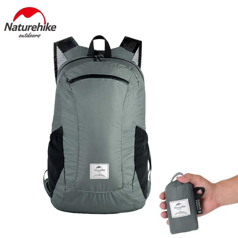 Naturehike Folding backpack ultra-light waterproof camping bag men women skin package outdoor mountaineering travel bags