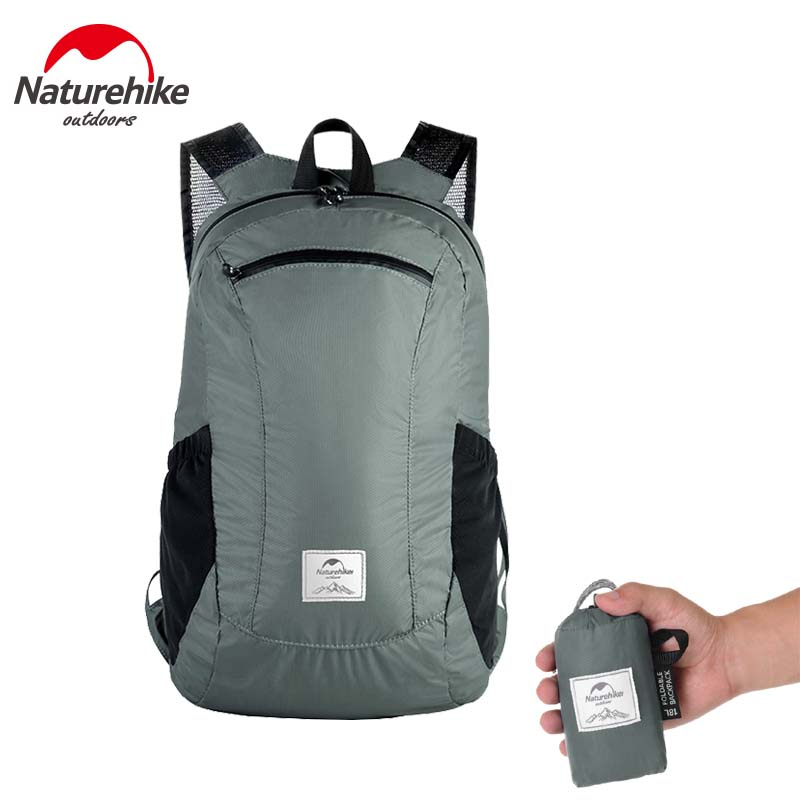 Naturehike Folding backpack ultra-light waterproof camping bag men women skin package outdoor mountaineering travel bags