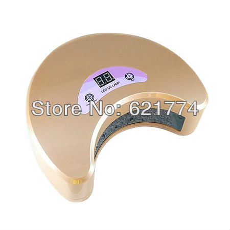 Hot sale 18w Moon Shape Professional LED Nail Art Polish Dryer LED UV Gel Curing Lamp 220-240v Euro Plug