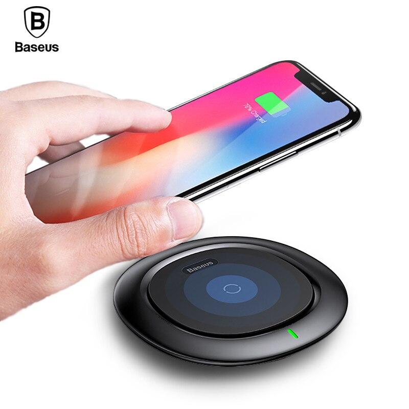 Carregador Sem Fio QI para o iphone X 8 Baseus Samsung Galaxy S9 S8 Desktop carregador Do Telefone Móvel carregador sem fio rápida carregamento