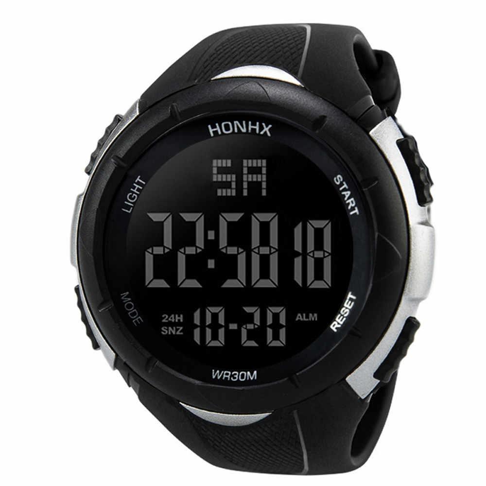 Luksusowy zegarek męski analogowy cyfrowy wojskowy Sport LED wodoodporne zegarki wysokiej jakości relogio masculino