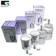 SAWEY HVLP контейнер для краски спрей краска чашка 400/600/1000 мл