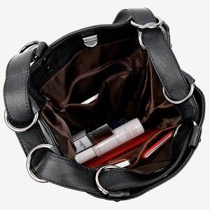 Image 5 - 2019 Kadın Sırt Çantası Yüksek Kaliteli PU Deri Kadın seyahat sırt çantaları Çok fonksiyonlu Su Geçirmez omuzdan askili çanta Kız Okul Çantaları