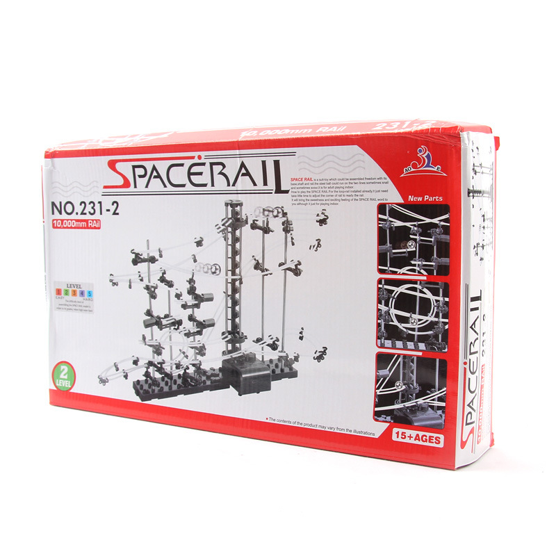 SpaceBall New Space Rail Board Game Funny Building Kit Roller Coaster Toys SpaceRail Level 2 DIY Spacewarp Erector Set toys in space
