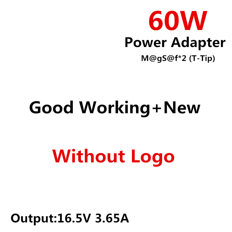RsFow For m@gs@f* 2 60W 16.5V 3.65A T-Tip power adapter charger for apple For Macbook pro 13 A1435 A1465 A1425 A1502