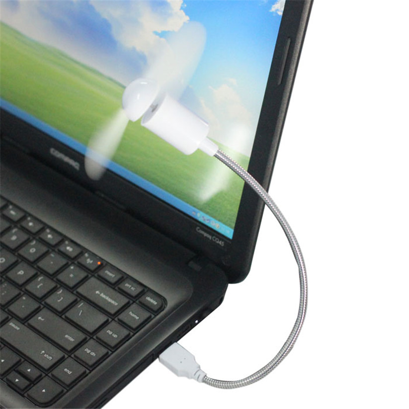 Binmer Cooling Fans Flexible USB Mini Cooling Fan Cooler For Laptop Desktop PC Computer New td0211 dropship