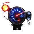 """KKmoon 2016 Universal 3.5 """"Kit Medidor de Velocidade Tacômetro LED Azul 11000 RPM com Shift Light + Motor de Passo Ajustável preto"""