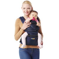 Happy Bear 0 48 Months Comfortable Breathable Nylon Multifunctional Back Facing Baby Carrier Adjustable For Four Season
