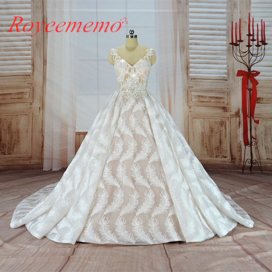 Wedding Gown For Sale: 2019 Hot Sale Special Lace Wedding Dress Transparent Top