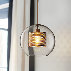 Image 4 - Nordic Industrial Loft Light Creative Concise Glass Dining Room Pendant Light Retro Bar Study Hanging light Free Shipping