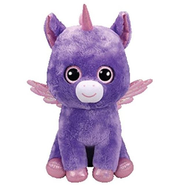Ty Beanie Boos 6 15cm Unicorn With Wings Plush Regular Stuffed