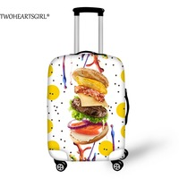 TWOHEARTSGIRL 3D Sweet Food Printed Luggage Protective Cover Dust Proof 18 30 Inch Travel Trolley Suitcase