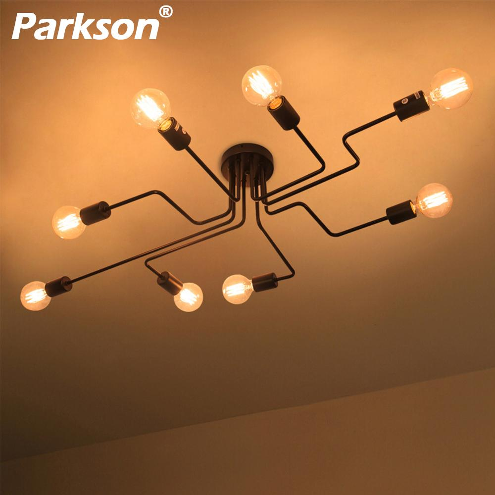 4 6 8 vintage pendant lights multiple rod wrought iron ceiling lamp e27 bulb living room lamparas for home lighting fixtures