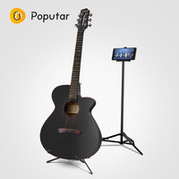 Poputar P1 40 inch Smart App Controlled Wood Folk Guitar With Bag/Capo/Picks/Strings/Holde