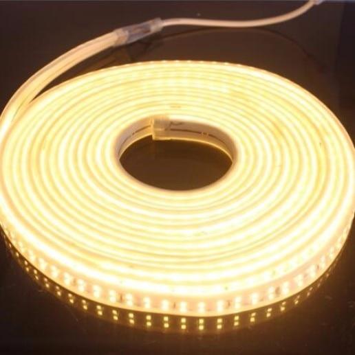180 светодиодный/м SMD 2835 Светодиодная лента 220 в 230 в 240 В двухрядные светодиодные ленты веревочная лента для украшения дома сада - 6