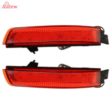 2Pcs LED Red Rear Bumper Reflector Red Lens Brake Tail Brake Light For Nissan Juke Murano For Infiniti FX35 FX37