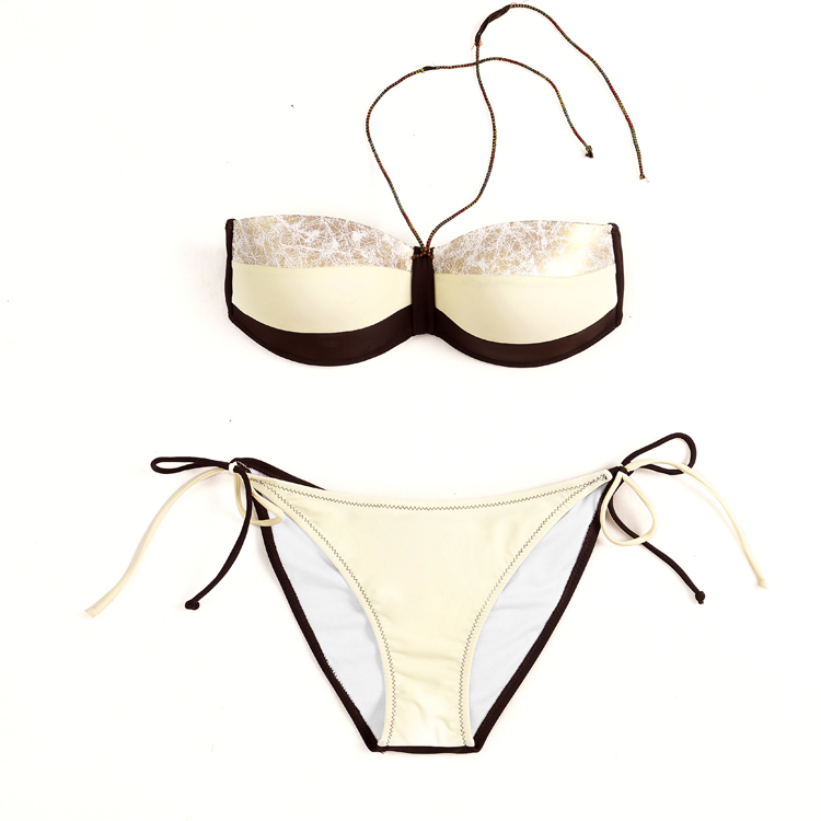 Sexy Swimsuit Bikinis 2017 Swim Set Women Two-Piece Beachwear 7 Colour Striped Bodysuit Split Female Swimwear Bathingsuit