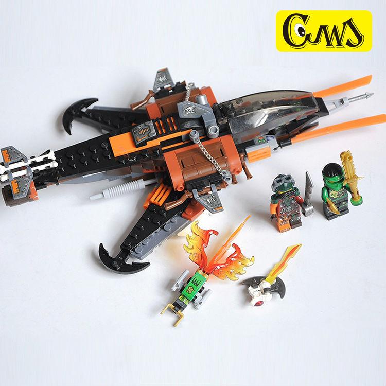 legaoes 06026 NinjagoINGlys Sky Shark Action Figures Ninja Flintlocke,Lldyd Blocks Bricks Kits Toys For Children Gift 70601