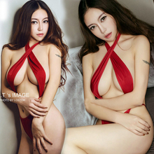 Sexy lingerie hot women red lace teddy sexy bondage open crotch luru SM cosplay Women prisoners erotic lingerie sexy costumes